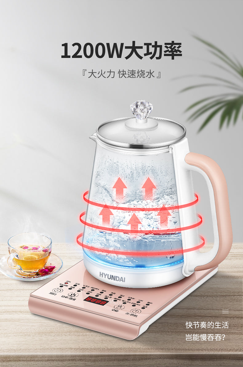 HYUNDAI/现代 2L Electric Healthy Teapot/ 1200W High Power SG Plug/1 Year SG Warranty