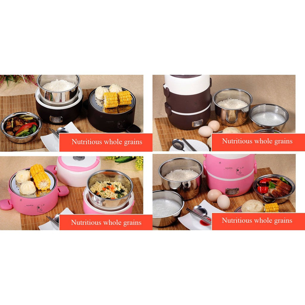 LifePro ELB-2018 2L Electric Lunch Box/ Mini Rice Cooker/ 2-Layer with 3 Bowls/ SG Plug/ English Manual/ 1 Year SG Warranty