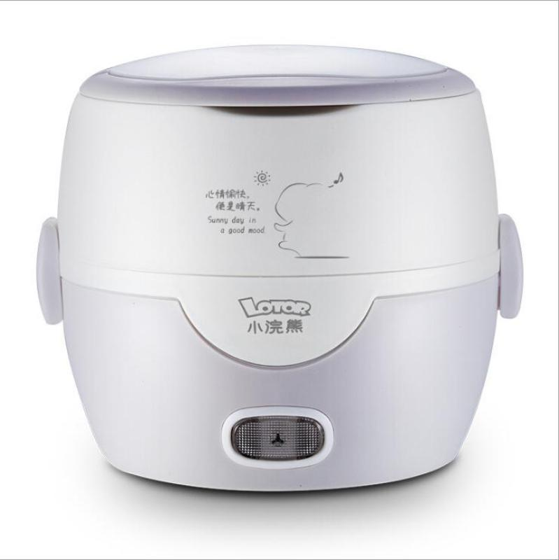 LOTOR HM-2015 1.3L Electric Lunch Box/ Mini Rice Cooker/ 1-Layer with 2 Bowls/ SG Plug/ English Manual/ 1 Year SG Warranty