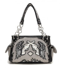 Load image into Gallery viewer, Gray Wings & Guns  Shoulder Bag