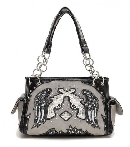 Gray Wings & Guns  Shoulder Bag