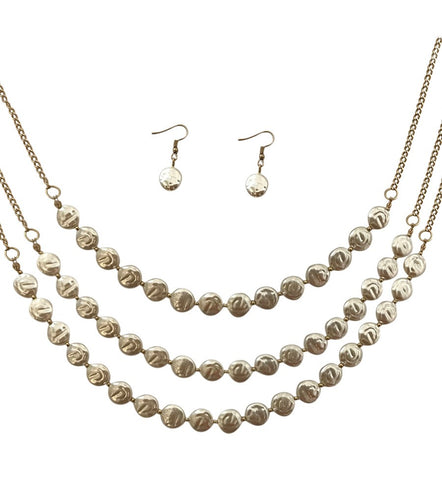 Cream Freshwater Pearl Necklace Set