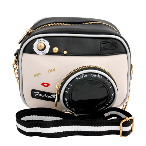 Camera Vegan Leather Fanny Pack or Cross Body Bag