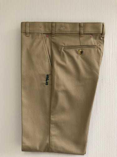 KHAKI PANTS WITH LOGO