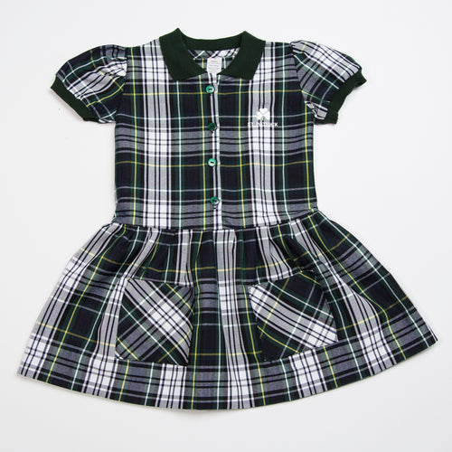 PLAID DRESS FLAP LONG