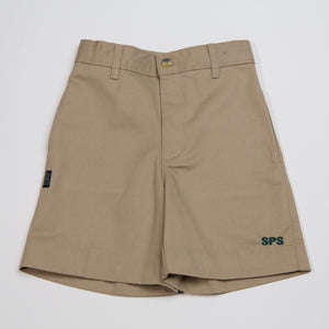 KHAKI SHORTS ADULTS WITH LOGO
