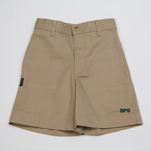 KHAKI SHORTS WITH LOGO