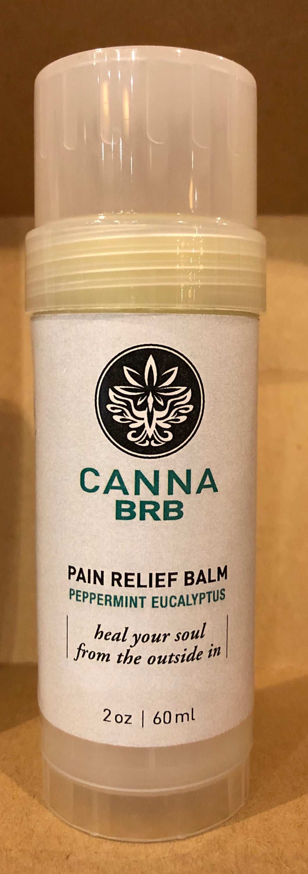 Pain Relief Body Relaxation Balm Twist Stick- Peppermint Eucalyptus 2oz