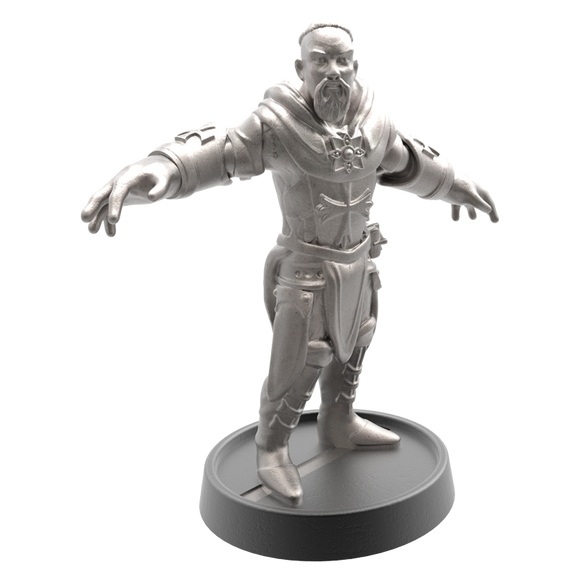 Hand of Glory modular magnetic gaming miniatures, weapons, and items - Cleric 32mm figure