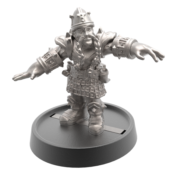 Hand of Glory - customizable modular magnetic hot-swap gaming miniatures, weapons, and items - Dwarf 32mm figure