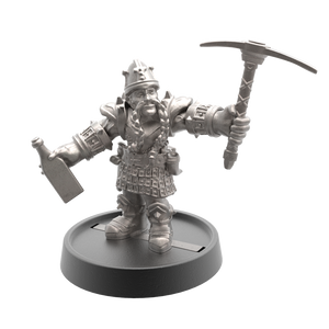 Hand of Glory modular magnetic gaming miniatures, weapons, and items - Dwarf 32mm figure