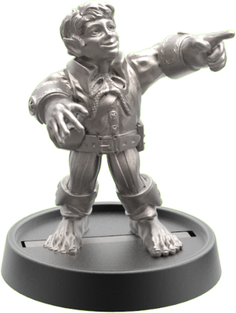 Hand of Glory - customizable modular magnetic hot-swap gaming miniatures, weapons, and items - Halfling 32mm figure
