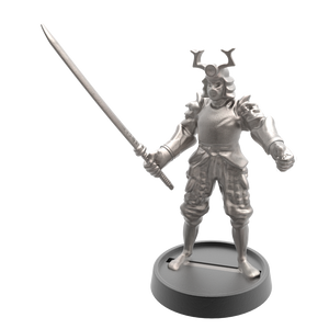 Hand of Glory modular magnetic gaming miniatures, weapons, and items - Samurai 32mm figure