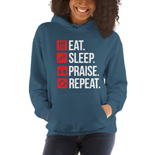 Load image into Gallery viewer, Eat Sleep Praise Repeat Hoodie for Women
