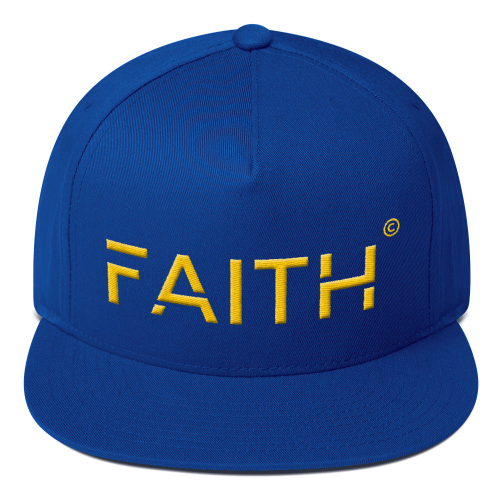1. Faith Limited Edition Flat Bill Cap