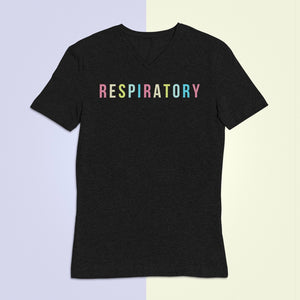 Respiratory Therapist Vibrant V-Neck T-Shirt