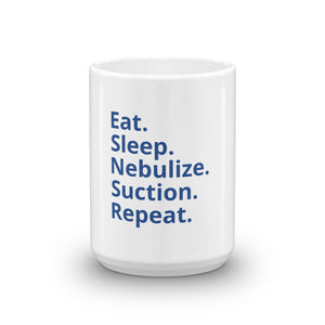 Eat Sleep Nebulize Coffee Mug (Blue)