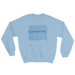 Respiratory Stack High Sweatshirt Blue