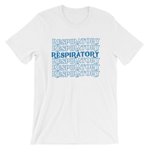 Respiratory Stack High T-Shirt Blue