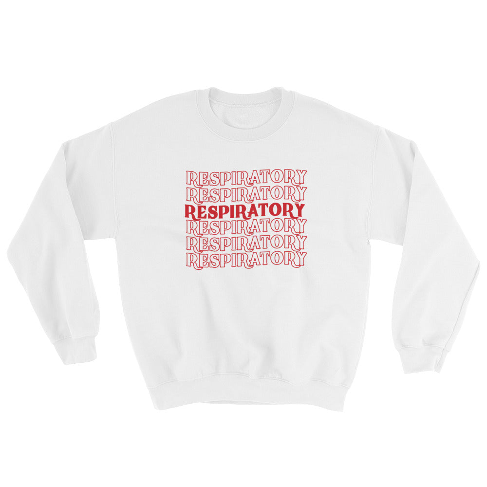 Respiratory Stack High Sweatshirt Red