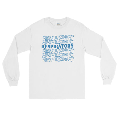 Respiratory Stack High Long Sleeve T-Shirt Blue