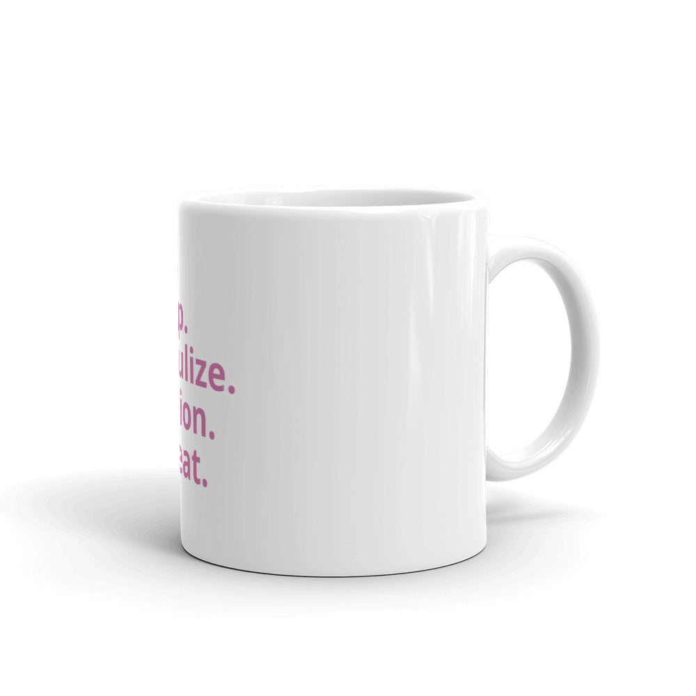 Eat Sleep Nebulize Coffee Mug (Pink)