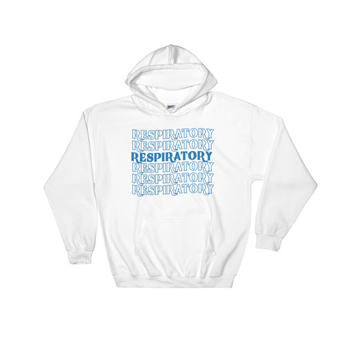 Respiratory Stack High Hoodie Blue