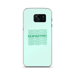 Respiratory Stack High Samsung Phone Case Green