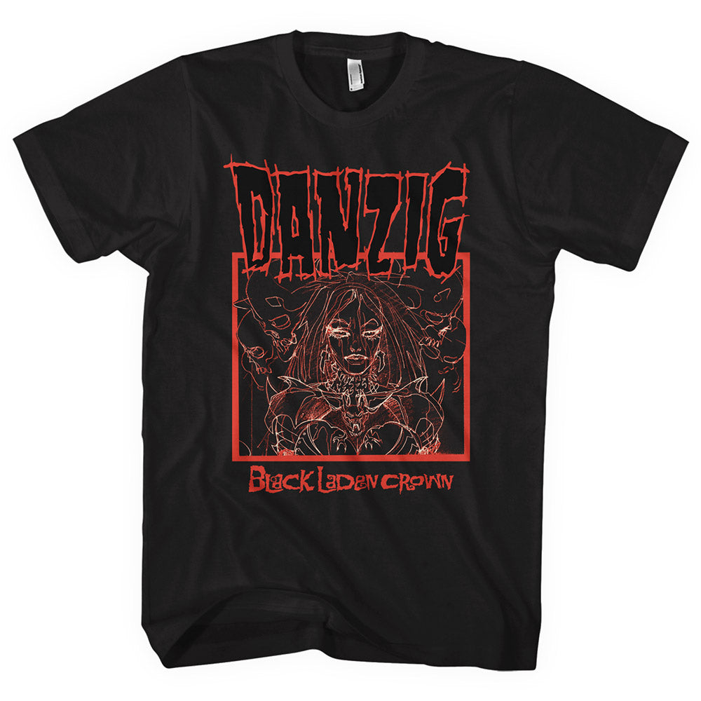 Danzig Black Laden Crown Tee-Danzig