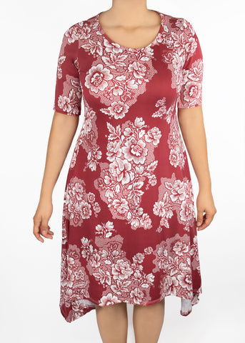 XS Poppy Dress-Pink/White Floral