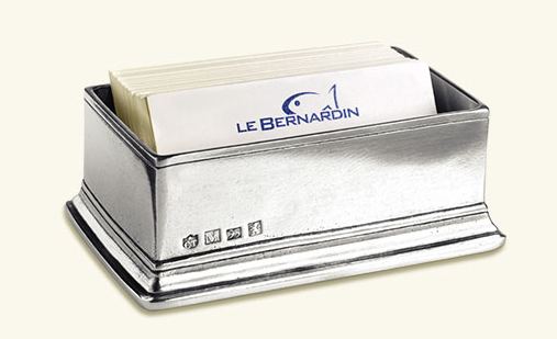 Match Pewter Sugar  Packet/ Business Card Holder