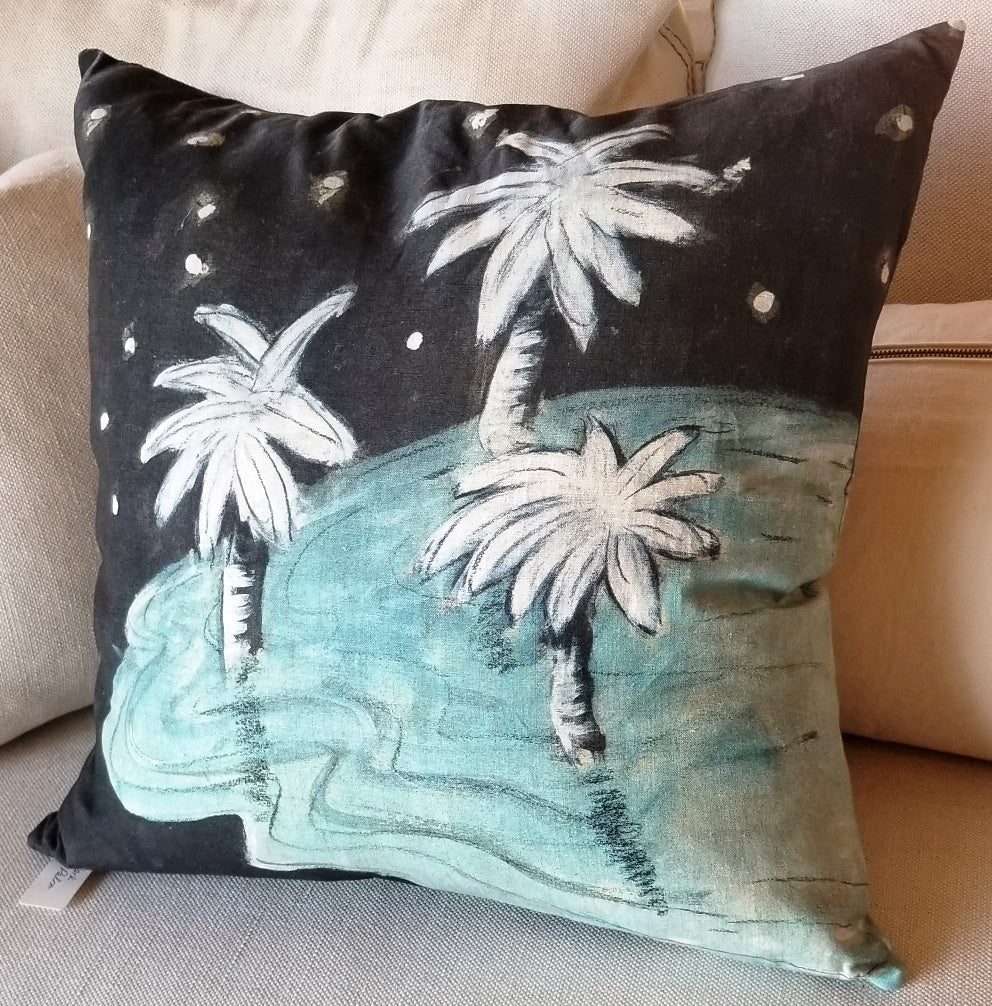 Maison Levy Pillow Dark Palm