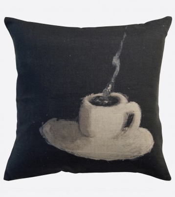 "Maison Levy Pillow ""Cafe Creme"""
