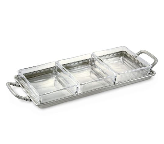 Match Crudite Tray w/Handles
