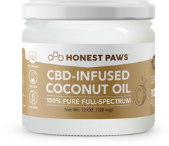 CBD for dogs, infused coconut oil by Honest Paws