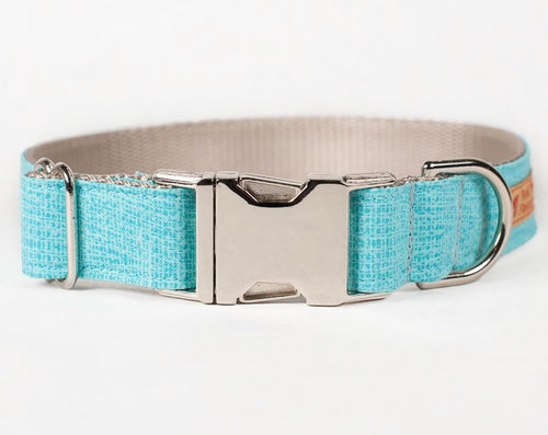 Cute dog collar in aqua for Spring