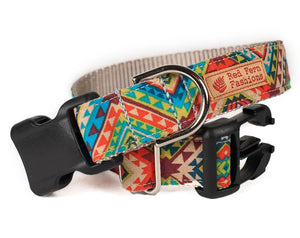 Custom Dog Collars and Leashes, Aztec Tribal Print