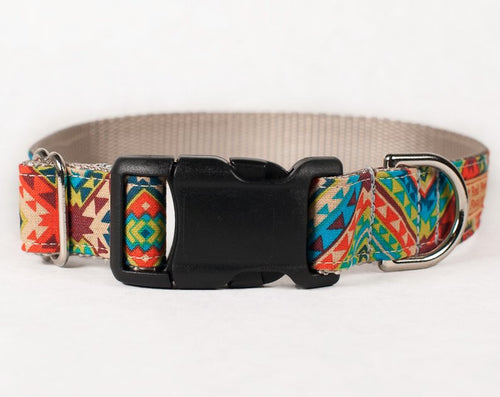 Cute dog collar, Aztec Tribal print