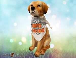 """1 Adopted 1 Less Caged"" Rescue Dogs Person and Pet Bandana"