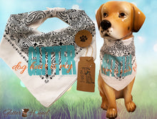 "Load image into Gallery viewer, ""Dog Hair is my Glitter"" Funny Sayings Bandana for dog or humans"