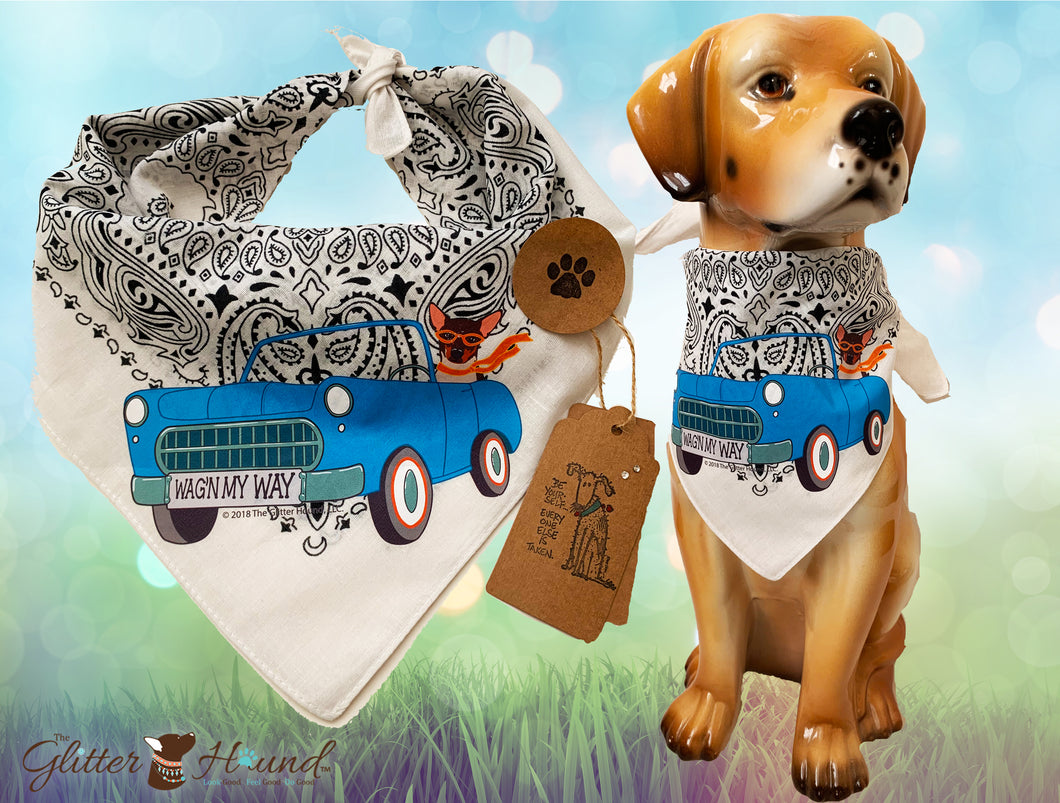 """WagnMyWay"" Bandana—Person or Pet Apparel"
