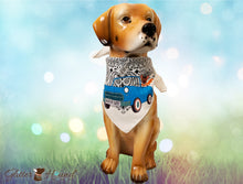 "Load image into Gallery viewer, ""WagnMyWay"" Bandana—Person or Pet Apparel"