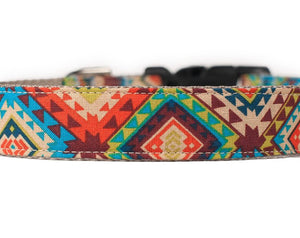 Cute Dog Collar, Aztec Tribal Print Fabric