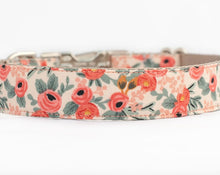 Load image into Gallery viewer, Custom Dog Collar, Peach flowers