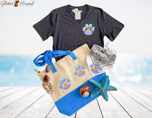 """Sunny Day"" Paw Print Fun Dog and Human Bandana"