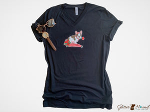 Tshirt Clothing for Women, Girl French Bulldog