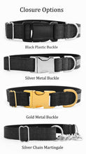 Load image into Gallery viewer, Custom dog collars nd leashes buckle options