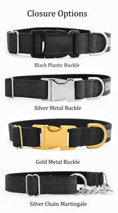 Custom dog collars nd leashes buckle options