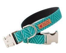 Load image into Gallery viewer, Durable Turquoise Chevron Dog Collars