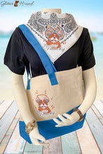 Load image into Gallery viewer, Tote Bags for Women, Cute Bandana and T-Shirt Clothing, French Bulldog Graphics